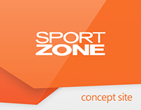 Sport Zone (concept #3 | main page)
