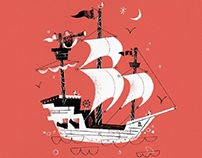 Pirate ships (illustration)