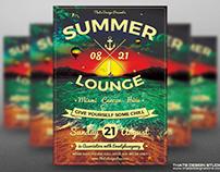 Summer Lounge Flyer Template V3