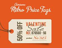 Set of 12 Retro Price Tags