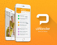 UI/UX & logo design for uWonder