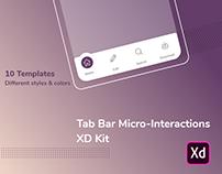 Tab Bar Micro-Interactions UI Kit for Adobe XD