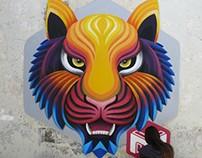 Tiger Graffiti - 3D Mural Timelapse