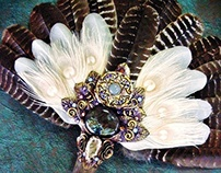 ALDERQUEEN Turkey Feather Ritual Fan