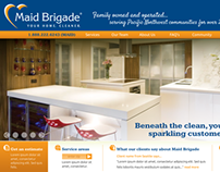Web Site UI Design on contract for Maid Brigade