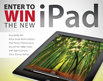 iPad Give-a-way Member Referral Poster