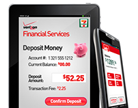 VZW - Financial Services Mobile UI Design