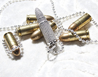 Icedout Bullet pendant