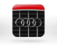 Audi logo & iPhone app icon