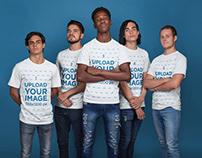 T-Shirt Mockup Featuring an Esports Team