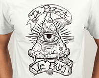 Shirt Design In Pizza We Trust by Brand FCKR