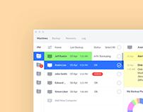 Acronis. Desktop app design.