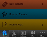 Amusement Park App Redesign