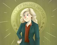 Leslie Knope - Parks & Rec fanart