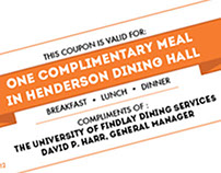 Complimentary Meal Ticket