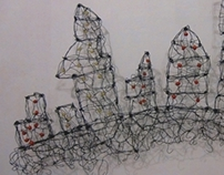 City Roots - wire sculpture