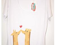 Giraffes in Love T-shirt concept