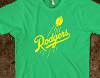 aaron rodgers - dodgers spoof shirt
