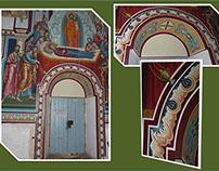 MURAL ORNAMENTS - Main Entrance - Etropolski Monastery