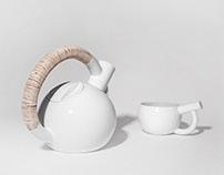 "tea service ""MT7 kettlebell"" / čajový servis"