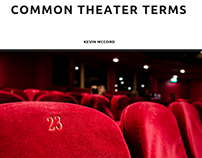 Kevin McCord NYC discusses common theater terms