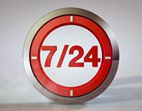 7/24 logo motion graphics
