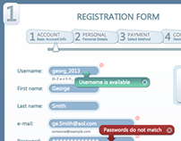 Advanced 4 Step Registration Form