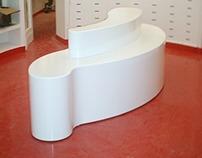 Diseño de mueble banco para Local Comercial en Madrid