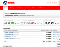 Kotak's Online Banking Interface