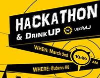Hackathon poster for Ubervu Hackdays 6