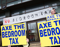 Bedroom Tax protest in Liverpool photography