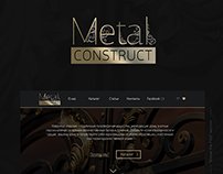 Logo and Website for Metal Forge