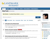 Landmark Group Intranet Design