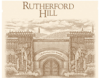 Rutherford Hill Wine Label Illustrated by Steven Noble