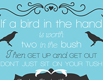 Bird Poem Print