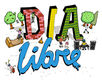 "Flyer for ""Dia Libre"" Festival"