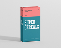 Cereals Box Mockup - Slim Size