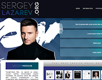 Sergey Lazarev Wordpress theme