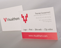 Cartes de visites - Visualthom, graphic designer