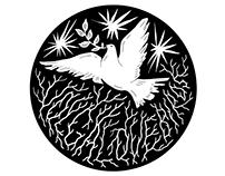 Logo for VOLGA/LOVE/BIRDS progect