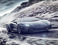 Lamborghini Aventador_Drifting in Wales