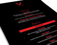 Venom - Menu Card