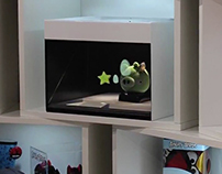 Angry Birds 3D Holographic Projection on Dreamoc POP
