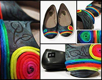 WOMAN'S RAINBOW SHOES