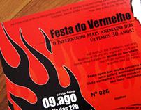 Festa do Vermelho / Flyer