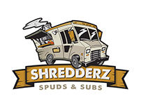 Shredderz Food Truck Logo
