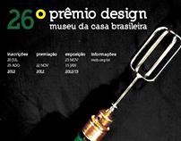 Cartaz 26º Prêmio Design MCB
