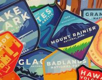 USA National Parks Badges