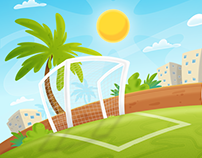 Soccer Game Background Illustrations
