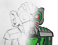 Armor monkey illustration  timelapse